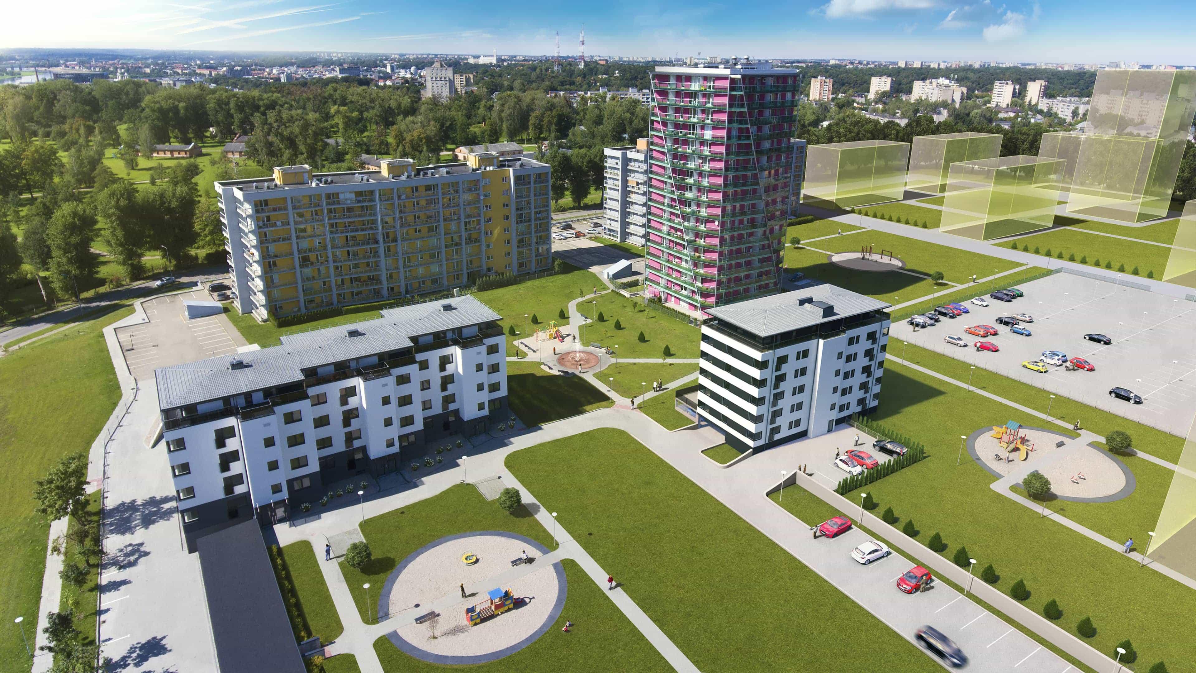 Nauji butai Kaune